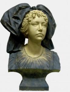 Sculpture - Buste d' Alsacienne