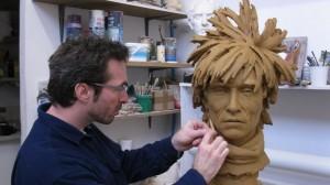 Sculpture du buste de Andy Wahrol