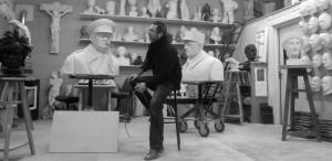 sculpture de gaulle churchill atelier