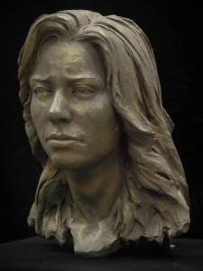 Buste en argile - Anne
