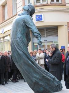 Inauguration de la statue de Camille CLAUDEL