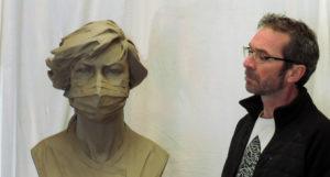 Sculpture en hommage aux soignants