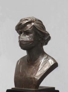 COVID - Sculpture en hommage aux soignants